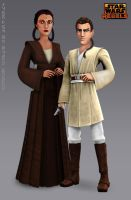 Depa Billaba and Padawan Caleb Dume (Fan Art) by Brian-Snook