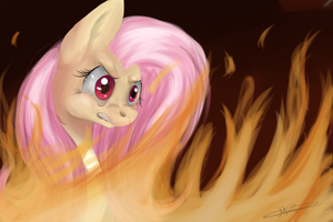 Fluttershy's Rage by LeaSmile