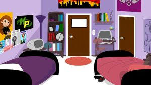 Background - KP's Dorm Room by hotrod2001