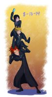 KH - 8/13/14 Trio by LynxGriffin