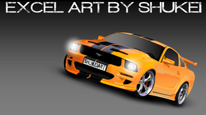 MS Excel: Ford Mustang by shukei20