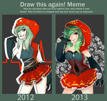{a year gone by - improvement meme} by peachshark
