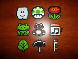 Perler Bead Mario Items by EP-380