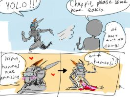 Chappie doodles by Ayej