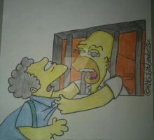Homer and Moe (The Simpsons) by PrettyKitty93