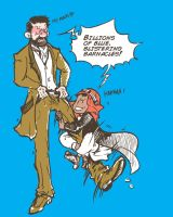 Adventure of tintin-Haddock and abdullah by monster3x