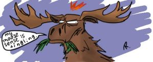 suspicious moose by Ayej