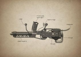 Steam powered horseshoe rail gun by BenPhillips