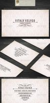 Vintage Style Business Card by vitalyvelygo
