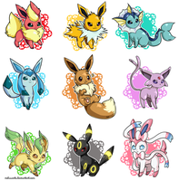 Cute Eeveelutions by MeluuArts