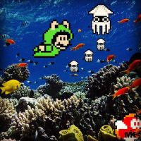 Scuba, Mario Style. by MightyMusc