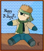 B-DAY GIFT_SOLID SNAKE_PLUSHIE by VMenFangirl
