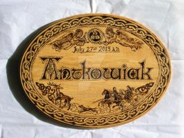 Antkowiak Wedding Plaque by Theophilia