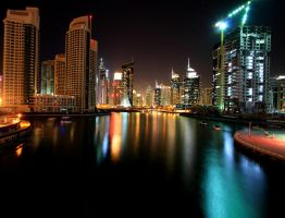 Sea of Colours, Dubai Marina by hannajohn