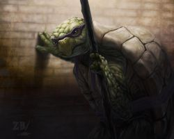 Old Age Mutant Ninja Turtle - remake by Zoltan86