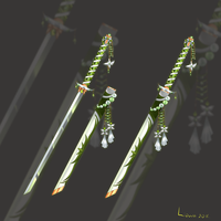 (CLOSED) Flower Katana weapon adopt auction 32 by Liowa