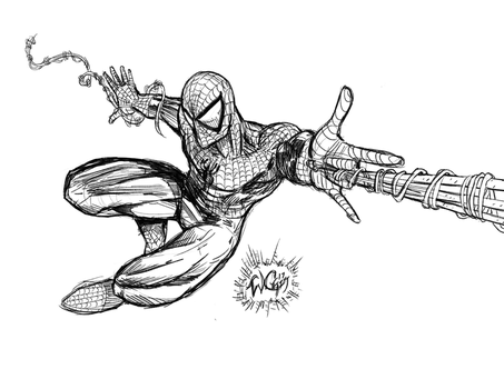 Spidey 2017 Sketch by wayner8088