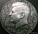 Hobo Nickel engraving Love Token by shaun750
