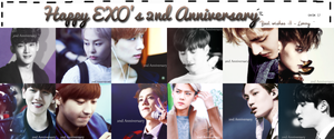 {Icon #5} EXO - 2nd Anniversary by Larry1042k1
