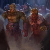zombie orc horde by texahol