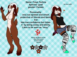 Freya Techna Ref sheet by stickerheart