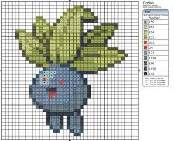 43 - Oddish by Makibird-Stitching