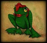 Red - haired Frog by elicenia