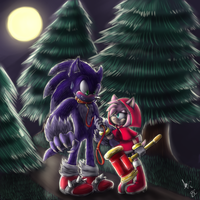 Little Red Ridding Hood's new pet :collab: by Blue-Chica
