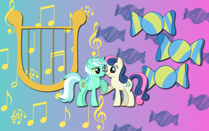 Lyra X Bon Bon wallpaper 4 by AliceHumanSacrifice0