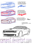 Muscle car lineart - simple tutorial. by camaro1