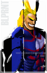 Blprnt: All Might by Venof-Unis-Jinanx
