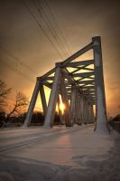 Baneasa Bridge Winter by ScorpionEntity