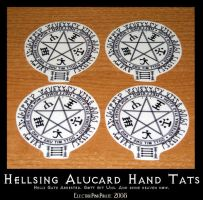 Hellsing Temporary Hand Tats by ElectrikPinkPirate