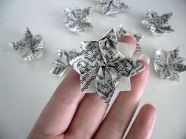 Origami Lotus Flower by jewelia2