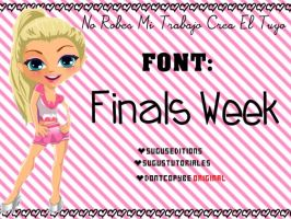 Finals Week Font by PinkLifeEditions