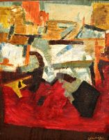 ABSTRACT-1, OIL ON CANVAS by swaroop1947