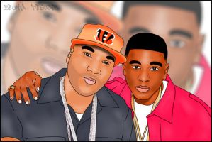 Young Jeezy and Lil Boosie Cartoon Graphic Design by ZeontaSmith