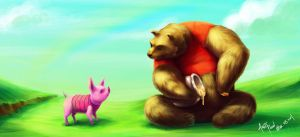 Pooh and Piglet by AndyPoonDesign