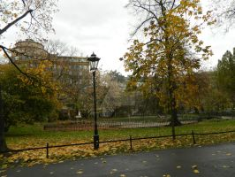 Krakow - park with lamp by laydiKroft