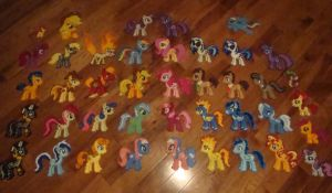 Perler Pony Collection by Pika-Robo