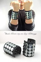 Studded Leather Cuffs by swanboy