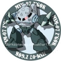 MSM-07 Z'GOK by darksonwong