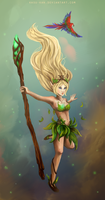 LoL: Forest Spirit Janna by Kasu-kan