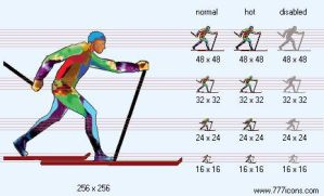 Skiing Icon by sport-icons