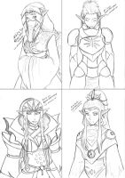 Drowtales Prologue Characters by DarkVolt