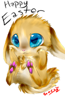Chibi Easter by Scorched-FoxFire