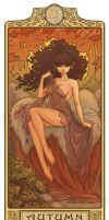 Moonshade - Autumn: Art Nouveau ElfQuest by MyBeautifulMonsters