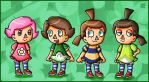 Villager girls by ninpeachlover