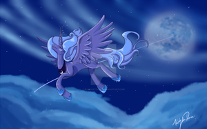 Moonlight Flight by BlindCatComics