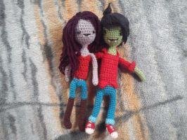 Marceline and Marshall Lee by michelle-murder